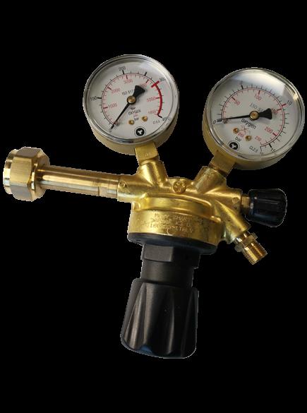Sauerstoff Druckminderer für 200 bar Anschluss (0 - 10 bar)