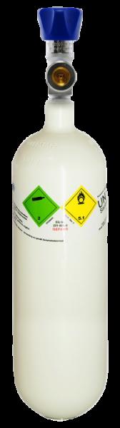 Neuflasche & Füllung mit Sauerstoff med. 1 Liter