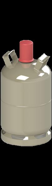 Brenngas f. Nutzungsflasche 11 kg (Camping, grau)