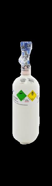 Neuflasche & Füllung mit Sauerstoff med. 0,8 Liter
